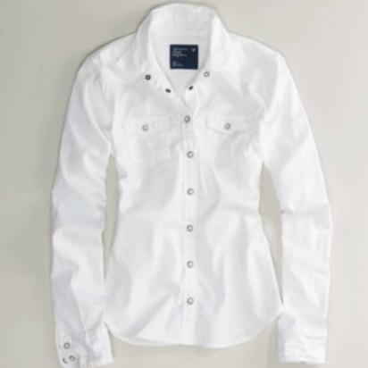 american eagle white shirt
